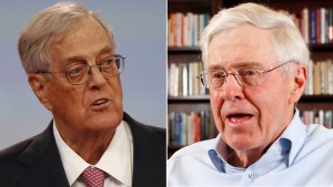 David and Charles Koch: Inherited wealth